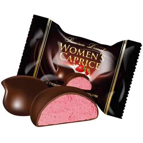 Цукерки «Lukasia Women's caprice зі смаком полуниці з вершками»